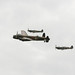 Avro Lancaster and Spitfire's BBMF