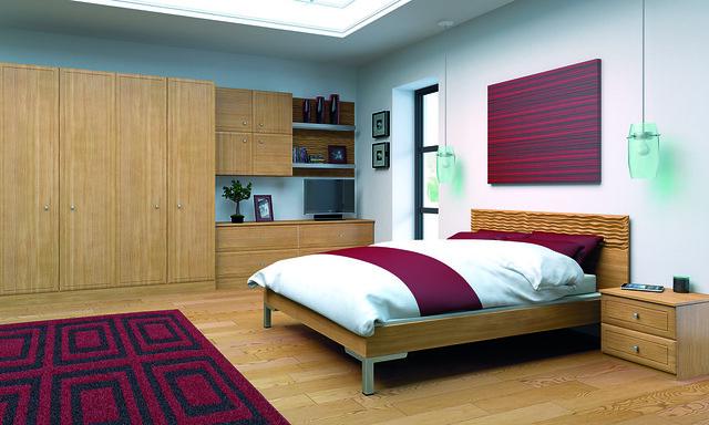 Natural oak euroline bedroom attribution larkandlarks for Fitted bedroom furniture 0 finance