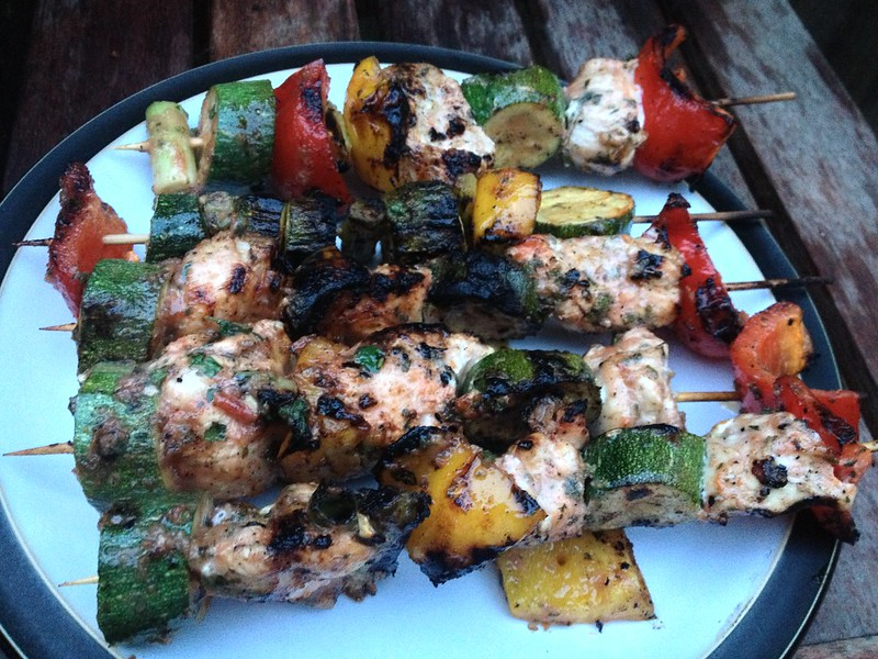 Naga Chilli Chicken Kebabs : Naga Chilli Chicken Kebabs Served