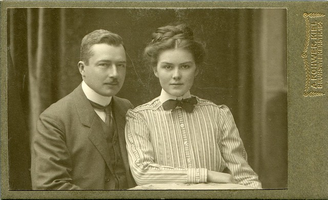 CDV Portrait of a young couple - Germany - c.1910