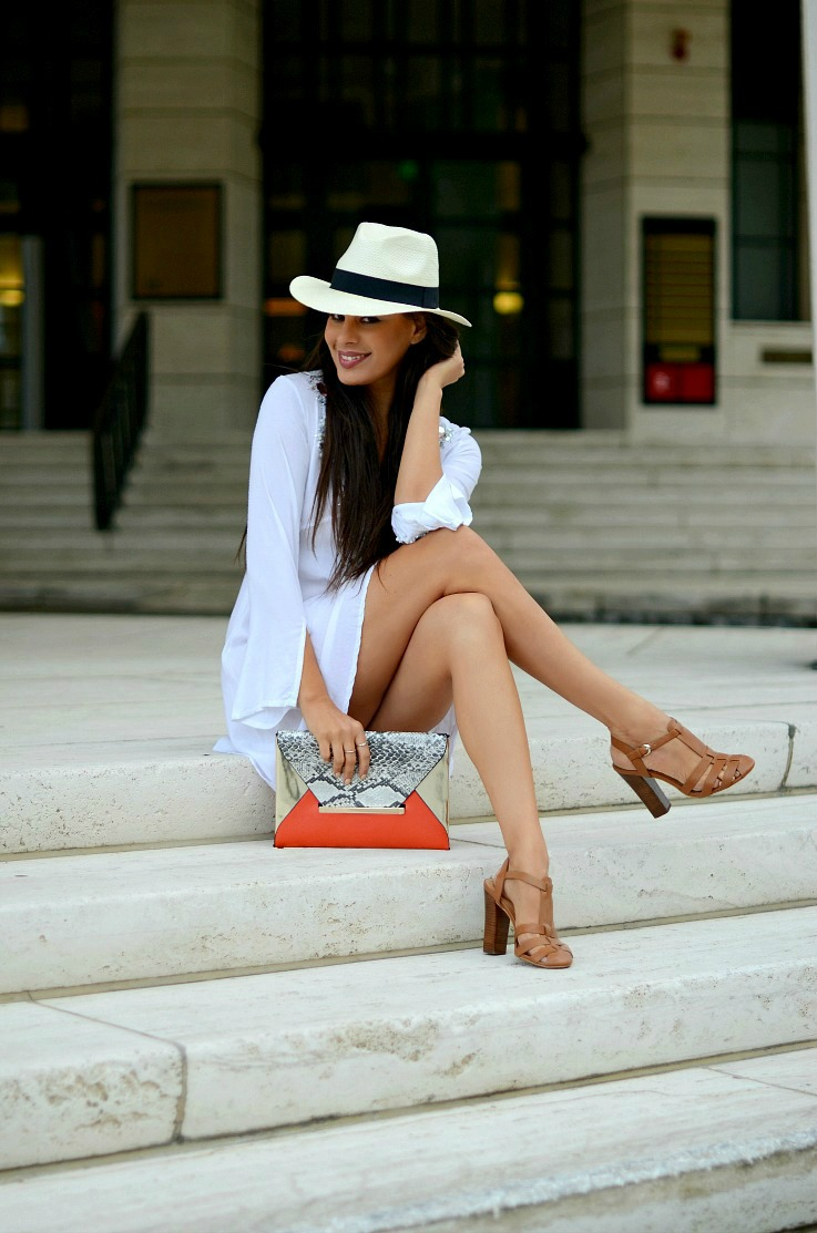 Jacky Luxury dress, Supertrash bag, Panama hat(2)