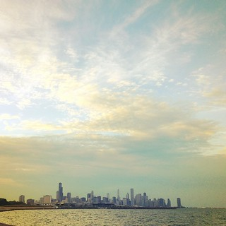 #latergram Chicago at sunset is the most beautiful place at the end of summer.