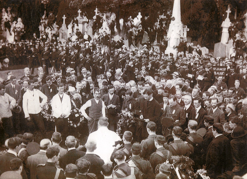 The Funeral of Jeremiah O'Donovan Rossa, 1st August 1915.