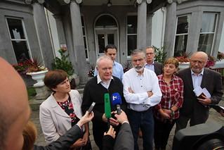 Martin McGuinness speaks to media