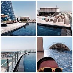 The pool area at Rayana Spa in Hyatt Capital Gate #InAbuDhabi with my yellow glasses | #TUTerleben