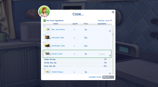 Guide The Sims 4 Cooking Skill Amp Recipe List