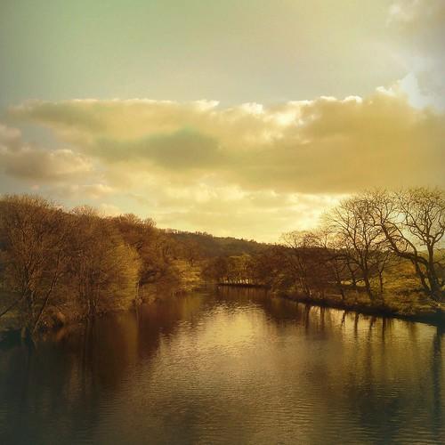 The River Wharfe from Otley Bridge, Yorkshire