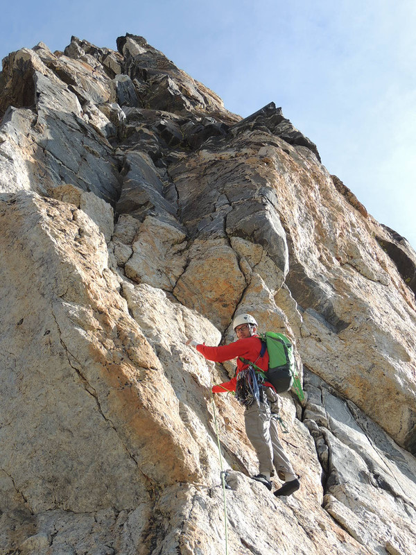 The first pitch was 5.8 on perfect Teton granite. Out of 6 pitches there wasn't a slack one in the bunch.