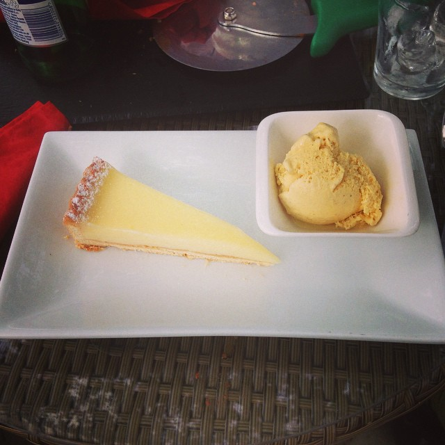 Mmm lemon tart and ice cream #food #cyclefuel #sweets