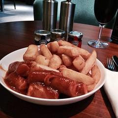 Currywurst tasting at Privé Lounge in Hyatt Capital Gate #InAbuDhabi