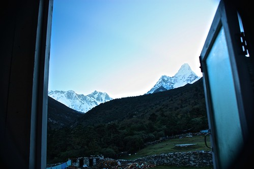 view from our guesthouse in Deboche