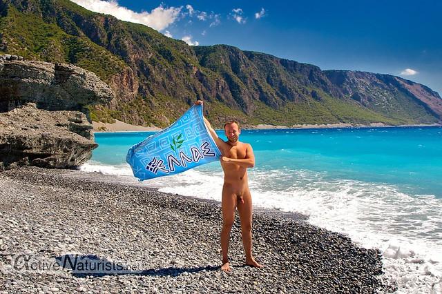 naturist 0005 Agia Roumeli beach, Crete, Greece