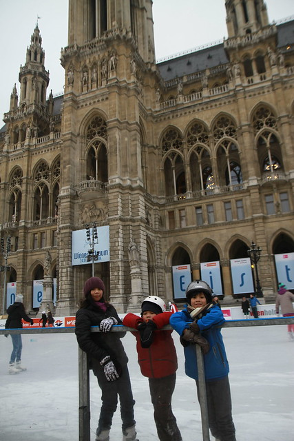 kids skating, wiener eistraum