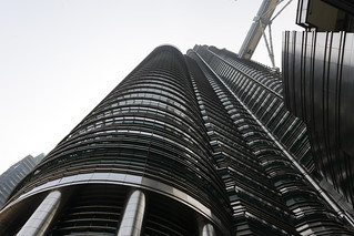 The steel and glass façade of the Petronas resemble motifs in Islamic art