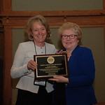 Dean Suzanne Reynolds (JD '77) with NC Bar President Catharine Arrowood ('76)