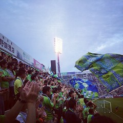 Great support at awayend. #bellmare #awaydays