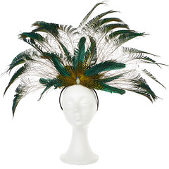 Queen Nefertiti Feather Headpiece