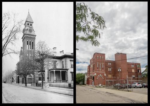 Harrison Street, west end.  Former Pilgrim Congregational Church by Eric Harrison, via I {heart} Rhody