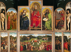 The Adoration of the Mystic Lamb, also referred to as the Ghent Altarpiece, is Belgium's most important artistic treasure.