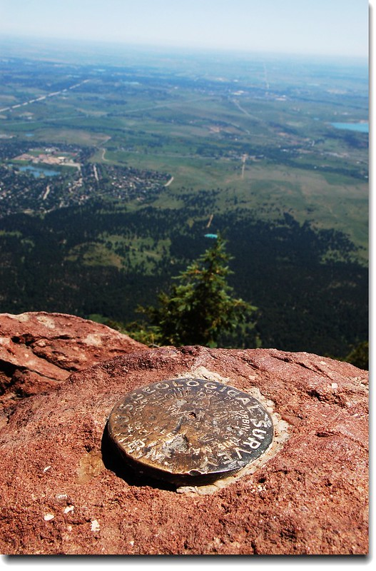 Benchmark on the summit of Bear Peak 7
