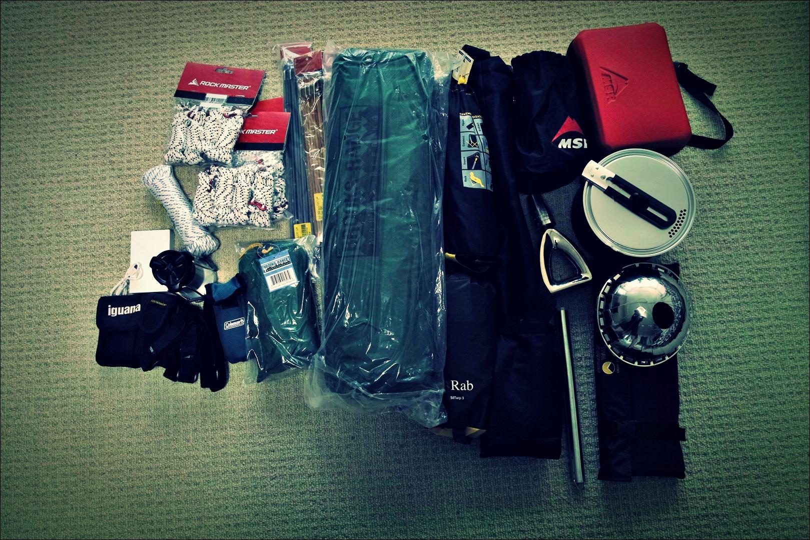용품-'자전거 야영 준비 ready to bike camping'