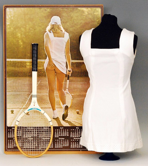 Athena 1976 Tennis Girl Poster - Simplicity Dress
