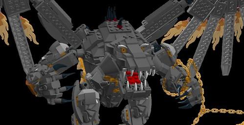 LEGO LDD MOC - Balrog 5