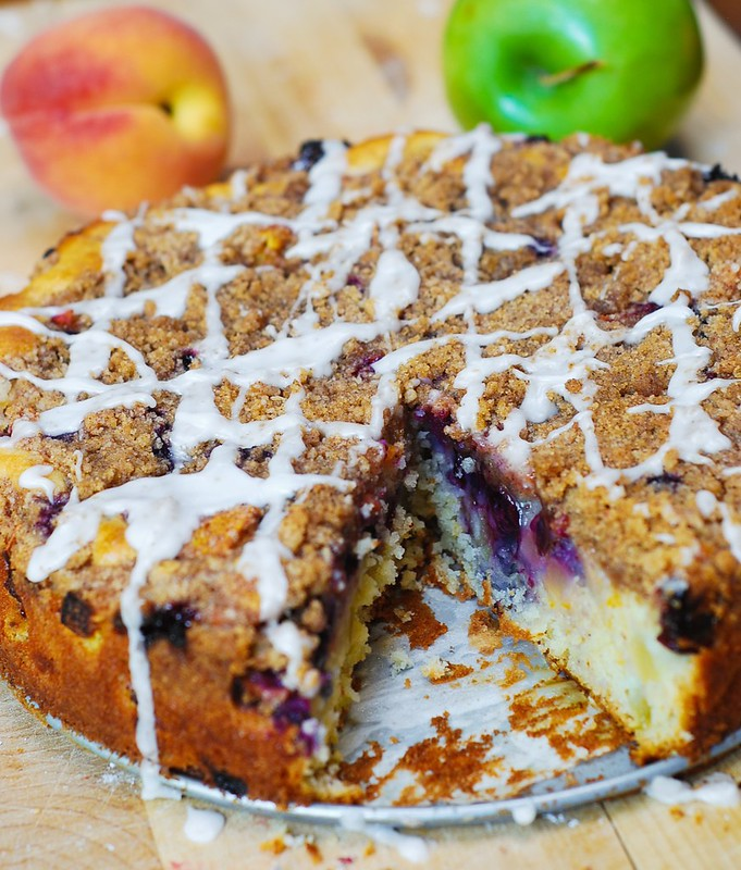 Apple, Blueberry, Peach Coffee Cake