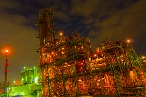 Nightscape at Kawasaki Industrial Zone 35