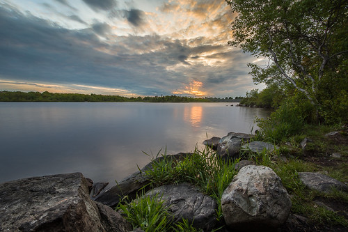 sunset canada water clouds rocks novascotia ns dartmouth albrolake