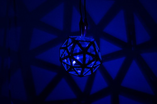 Geometric lamp, realized