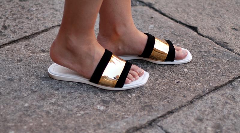 falda zara sandals