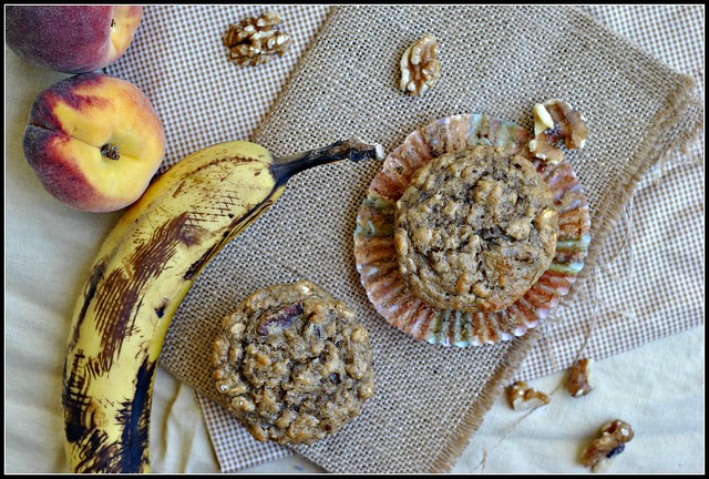 Healthy Banana Oat Muffins 2