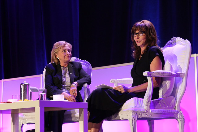 Hillary Clinton and Mary Steenburgen at Public Counsel's William Douglas Dinner