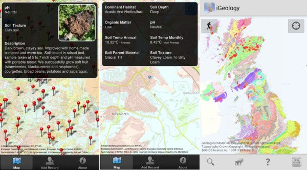 mysoil and igeology - Best Gardening Apps