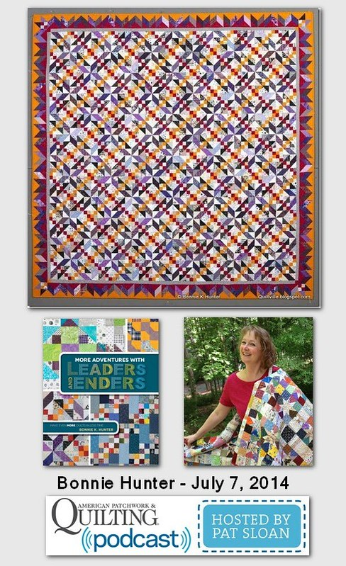 Pat Sloan American Patchwork and Quilting radio Bonni Hunter July 204 guest