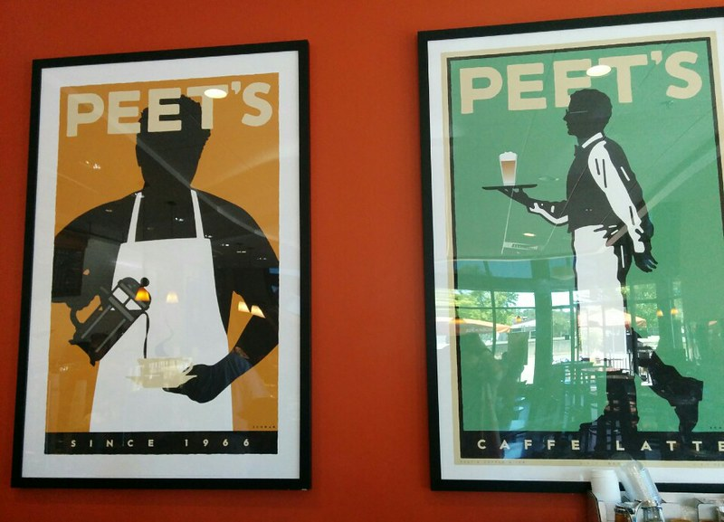 mi favorite peet's of the north w/ its majestic Michael Schwab posters ♥