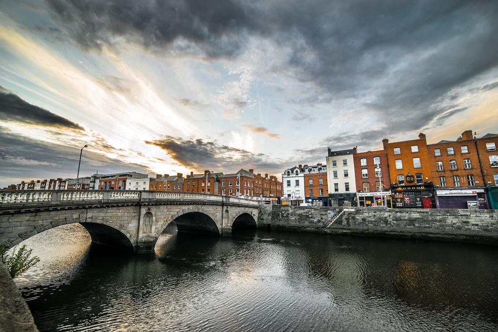 Usher's quay, Dublin, Ireland