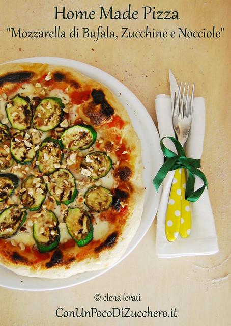 Pizza bufala, zucchine e nocciole