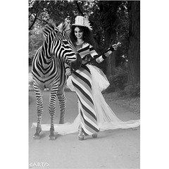 A look from last weekend's photoshoot with @thevintagevaultfashion.  This concept was inspired by one of my favourite #photographers, #MissAniela. Model: Sonita Amiri of @edge_agency #zebra #vintage #fashion #yqr