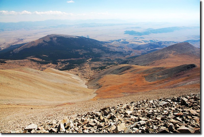Little Baldy Mountain seen from Mount Silverheels' summit