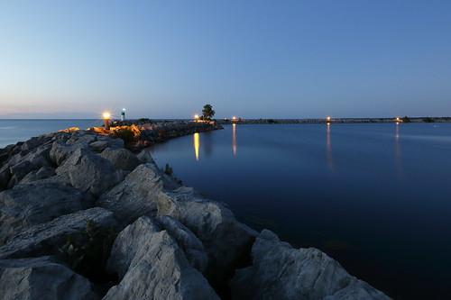 sunset wall marina break harbour jordan