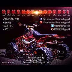 My homie @_the_pic_editor_ always taking care of business for Banshee Apparel! Keep up the good work bro and thank you. my crew @banshee_cartel @banshee_community @stupidmotoriderz @miami_bikelife #custom #atv #clothing #apparel #tshirts #tanktops #hood