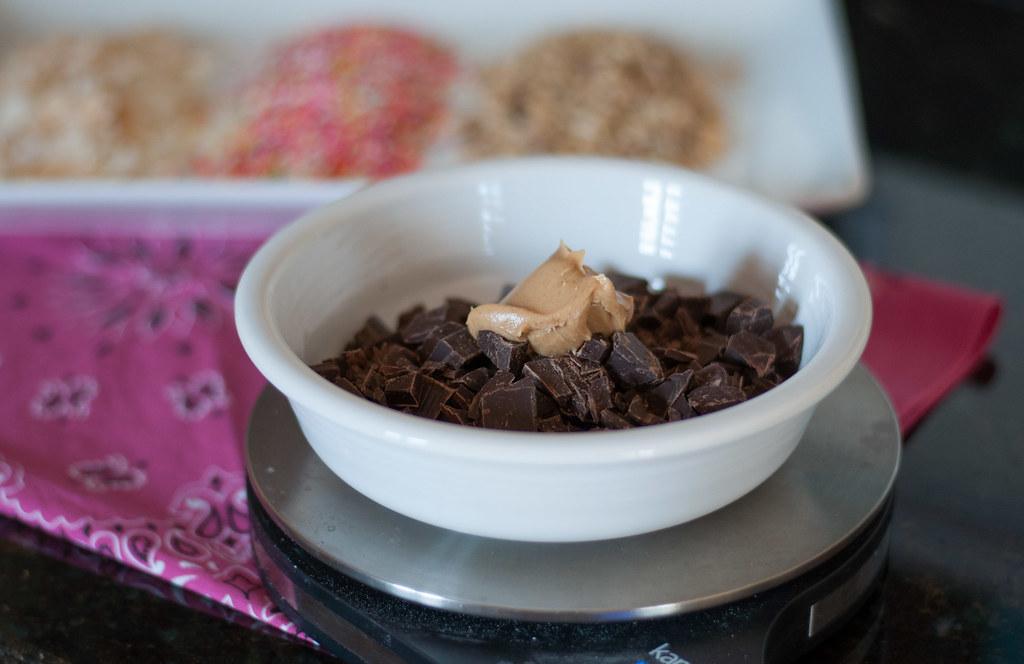 PB chocolate ganache: before