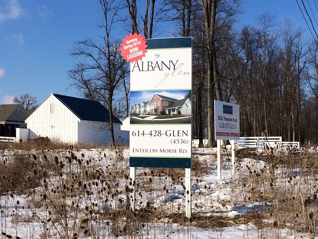 2014.02.18 Albany Glen Marketing Sign