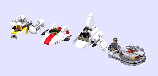 Custom Microfighters, by turbokiwi