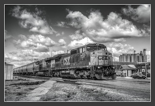 CSX in Deshler/OH (March 27, 2013)