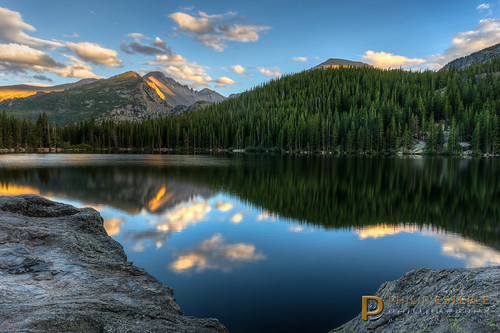 sunset mountains clouds landscapes colorado skies unitedstates lakes scenic rmnp longspeak skyscapes estespark forests hdr rockymountainnationalpark bearlake waterscapes landscapephotography pentaxk3 fingolfinphoto philipesterle