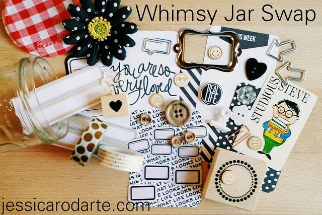 whimsy jar swap- details on my blog