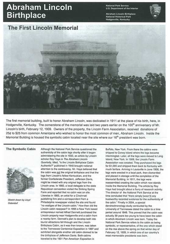The First Lincoln Memorial